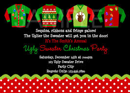 invitation wording ugly sweater christmas party invitation ideas