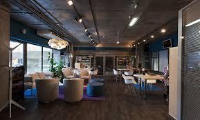 dark interior loft office interior based on contrasts of dark background light