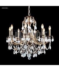 Marie Therese Crystal Chandelier James R Moder 40041 Monaco Cast Brass 28 Inch Wide 8 Light