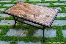 ceramic tile table top outdoor furniture cast aluminum frame garden coffee table ceramic