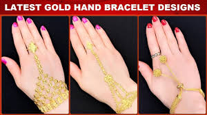 bracelet design with ring images Latest gold hand bracelet designs hand bracelet for girls with jpg