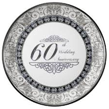 60th wedding anniversary plate custom wedding anniversary plates