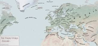 Iraq On World Map Old Norse Map Of The Viking World