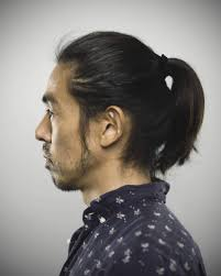types of ponytails for men asian ponytail hairstyles fade haircut