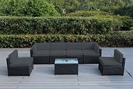 Outdoor Furniture Amazon by Amazon Com Ohana Mezzo 7 Piece Outdoor Wicker Patio Furniture