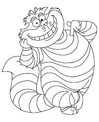 cheshire cat coloring pages to download and print for free