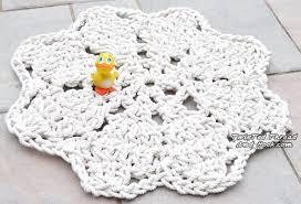 Crochet Bathroom Rug by Flower Bathmat Rug For Nautical Bathroom Decor Handmade