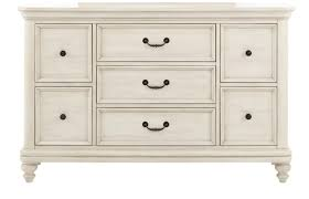 lawrence madison drawer dresser in antique white 8890 410