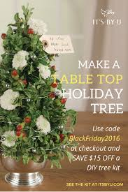 black friday sale get 15 off a diy christmas tree kit awesome