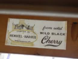 Henkel Harris Dining Room Furniture Henkel Harris Queen Anne Black Cherry Dining Table Sold