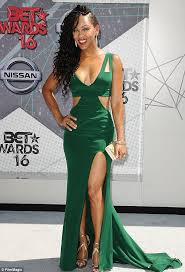 bet awards 2016 red carpet sees meagan good stun in green dress