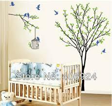 stickers arbre chambre enfant livraison gratuite bébé amovible chambre mural en pvc autocollants