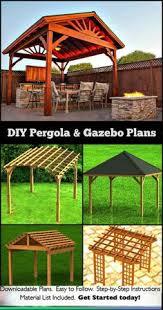 Easy Diy Pergola by Gazebo With Hip Roof Building Plans Pergolas U0026 Gazebos