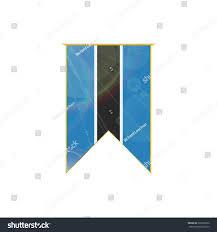 Hanging American Flag Vertically Luxury Vertical Ribbon Botswana Flag Framed Stock Vector 291822032