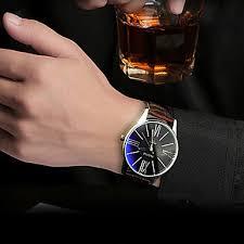s quartz wrist water resistant water proof leather
