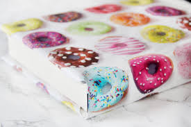 donut wrapping paper diy back to school textbook covers kavett