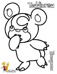 pokemon teddiursa coloring pages images pokemon images