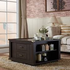 espresso square coffee table square coffee tables for less overstock com