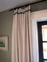 Ticking Stripe Curtains Two 96 L Custom Curtain Panels With Pinch Pleats Ticking Stripes