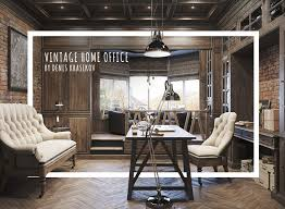 Epic Vintage Home Office Design Office Spaces Spaces And Office - Home office design images