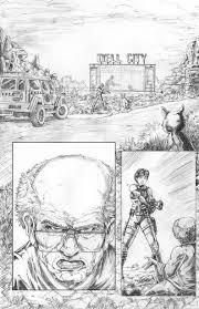 sample comic page pencils 2 by gazbot on deviantart