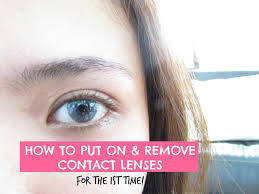 halloween store contact lenses how to put on and remove contact lenses for the first time youtube