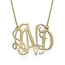 monogram necklace gold 10k gold monogram necklace mynamenecklace