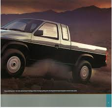 nissan pickup 1996 1987 nissan hardbody truck d21 dealer brochure us market nicoclub