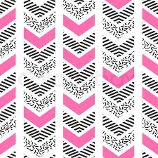 herringbone abstract seamless pattern in memphis style pink
