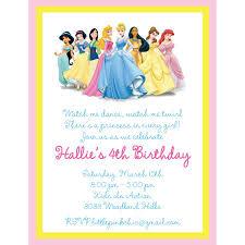 princess party invitation wording disney princess birthday