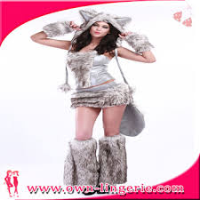 Wolf Costume Cosplay Wolf Costume With Corset Skirt And Tail Hood Leg