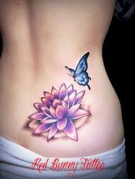 lotus flower and butterfly tattoos 東京の studio