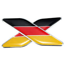 Germman Flag 2pcs 3d German Flag Sticker Badge Emblems Decal Decor For Car