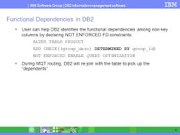 db2 alter table add column a first look at materialized query table mqt in db2 luw ppt download