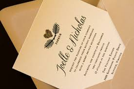 virginia wedding invitations green on linen pine cones