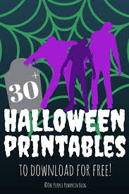 free halloween printables the purple pumpkin blog