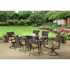 6 Seat Patio Dining Set Better Homes And Gardens Riverwood 7 Piece Patio Dining Set Seats