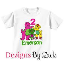 barney friends birthday shirt personalized dezigns zack