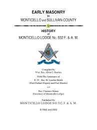 history of freemasonry in sullivan county alvin o benton