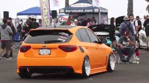 slammed subaru hatchback orange subaru wrx hatchback looks amazing youtube