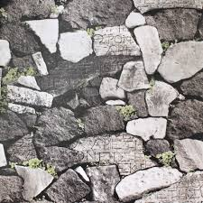 faux rock stone peel and stick wallpaper gray green self adhesive