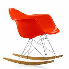 eames design contemporary armchair plastic rocker by charles eames