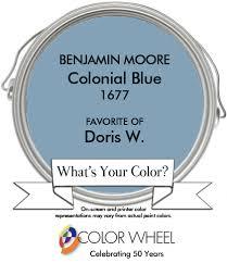 doris w selected benjamin moore u0027s colonial blue because it u0027s