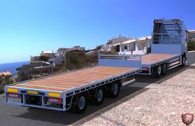 volvo trailer price 3d volvo fh flatbed empty with trailer model 3d model obj mtl