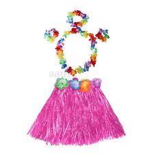 hawaiian grass hula skirt flower wristband garland fancy
