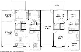 Small House Plans Under 1200 Sq Ft Plan 1462d Small Duplex Plan With Garage Storage And Safe Room