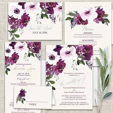 wedding invitations floral bohemian floral wedding invitations