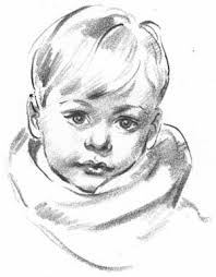 how to draw a portait of a young boy draw children