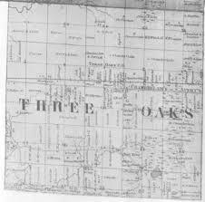 Michigan Township Map by 1860 Berrien County Michigan Maps