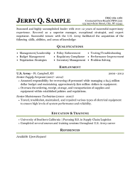 Sample Resume Maintenance Technician by Military To Civilian Conversion Sample Resume For Logistics After